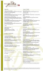 garden grille and bar menu