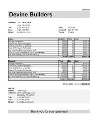 Roofing Invoice Free Roofing Invoice Template Chakrii