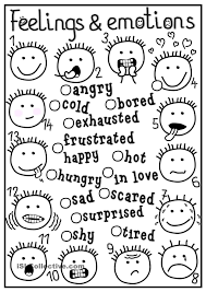 Small Picture Feeling Coloring Pages Emotions Page With Within glumme
