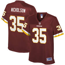 Nicholson Color Washington Women's Player Team Line Montae Nfl Jersey Redskins Pro Burgundy