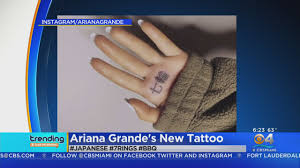 Trending Arianas New Tattoo Cbs Miami News Sports Weather