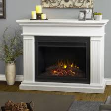 real flame kennedy grand electric fireplace lifestyle white