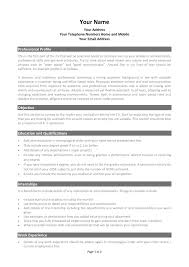 Curriculum Vitae Template Free Download South Africa Fresh
