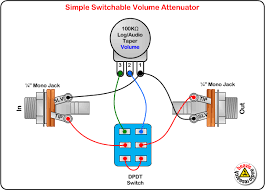 switchable volume attenuator wiring diagram amplifiers switchable volume attenuator wiring diagram