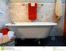 Clawfoot Tub In Bathroom Spa Setting Stock Images Image - Clawfoot tub bathroom