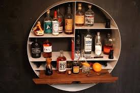libation station 2 wall mounted led bar shelves studio libation station wall bar shelves
