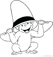 Curious George Coloring Pages Online Free Curious Coloring Page
