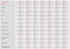 Number Size Chart Burda Measurement Guide Burdastyle Com