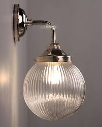 contemporary wall lighting. CONTEMPORARY WALL LIGHT WITH GOODRICH PRISMATIC GLOBE Bathroom Light Available In Antique Brass Fritz Fryer Contemporary Wall Lighting