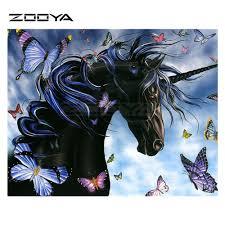 <b>ZOOYA Diamond Embroidery 5D</b> DIY Diamond Painting Black ...