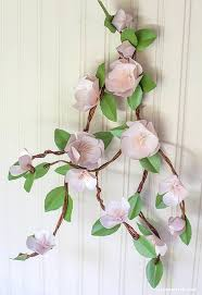 Paper Flower Branches Diy Paper Apple Blossom Branches Diy Paper Flowers Paper Flowers