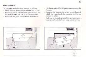 can you help please attached are scans from the owner s user manual they show how to access the main fusebox
