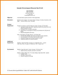Resume Chronological Template Chronological Order Resume Example