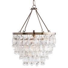 jens modern classic glass drop brass chandelier 美国kathy kuo home 价格 图片 掌案