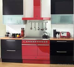 Range Oven And Hood In Red