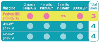Dosing Schedule For Pedvaxhib Haemophilus B Conjugate