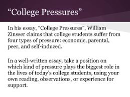 """english com """"college pressures"""""""