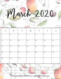Floral March 2020 Calendar Free August 2019 Calendar
