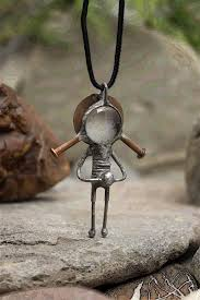 cyberpunk necklace paranormal jewelry unusual gift ideas alien ufo gifts robot pendant y art