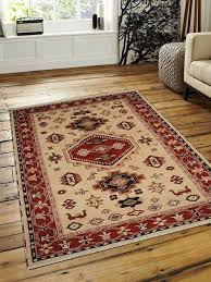 carpets hand knotted afghan wool and silk kazak area rug gold red southwestern area rugs by get my rugs llc