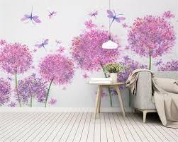 Beibehang Custom Classic Behang Moderne Roze Hortensia Bladeren