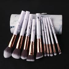 marble makeup brushes. 10pcs-marble-collection-makeup-brushes-set-foundation-powder- marble makeup brushes