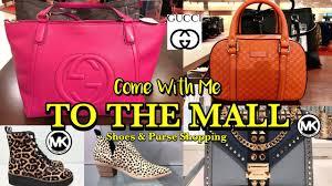 Von Maur Designer Handbags Shop With Me At Michael Kors Nordstrom Von Maur Shoe Purse Shopping Vuitton Gucci