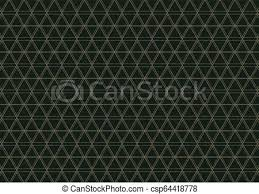 Abstract Geometric Pattern With Lines On Dark Green Background