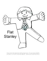 Flat Coloring Page Free Printable Stanley Girl Template Body