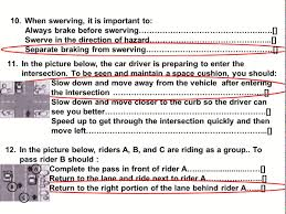 2017 dmv motorcycle released test questions part 1 written ca permit practice you