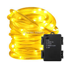 Timer 5m Us 9 4 5 Off Battery Powered String Lights 5 Modes Timer 5m 10m Led Rope Lights Waterproof Pvc Tube For Christmas Holiday Outdoor Decoration In Led