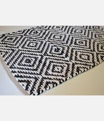 black and white diamond rug. black white diamond cotton rug runner handmade · zoom and a