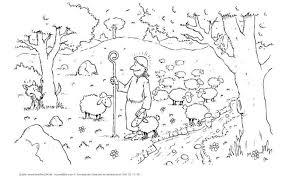 Kinderwoorddienst Kleurplaat De Herder En Zijn Schapen