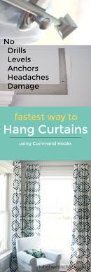 diy bedroom curtains pinterest. command hooks aren\u0027t just for renters! hang your curtains quickly the easy way diy bedroom pinterest d