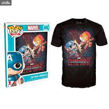 Funko Pop Tees Size Chart Fight Mens T Shirt Marvel Civil War Funko