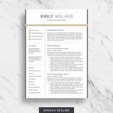Clean Resume Template Word Bkperennials