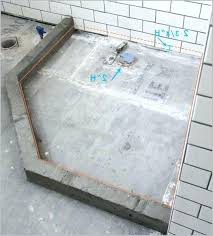 build a concrete shower pan post diy shower pan on concrete how to make a