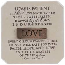 love is patient decor hobby lobby