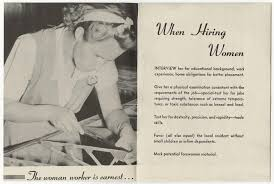 Rosie The Riveter Government Pamphlet Advises Employers Who