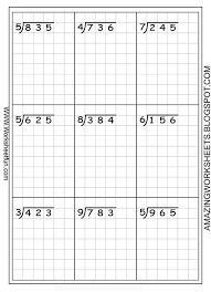 Long Division Worksheets Free Using Graph Paper Keeps The Two Digit