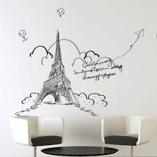 Samolepka Na Zeď Eiffelova Věž S Balóny Poštovnézdarmacz