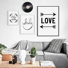 inspirational office. smiling face minimalist art canvas print abstract poster inspirational phrase black white image modern home office