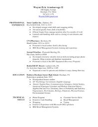 Sample Resume For Retail Key Holder Making Professional Resume Free