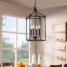 E Classy Design Indoor Lantern Pendant Light Lights Astonishing Astounding  Rustic Black Cage
