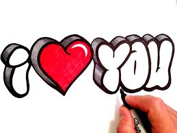 i love you drawings in pencil with heart how to draw 3d bubble letters you 12