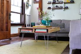 20 DIY Pallet Coffee Table IdeasPallet Coffee Table With Hairpin Legs