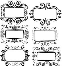 black vintage frame design. Black Vintage Frame Set Vector 01 Design 2