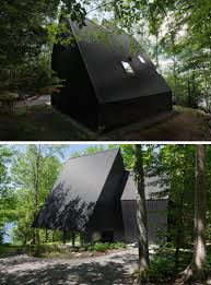 Contemporary Cabins This Contemporary Cabin Is Surrounded By A Hemlock Forest