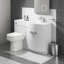 lorraine combination bathroom toilet right hand sink unit white gloss