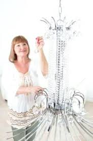 cleaning chandelier